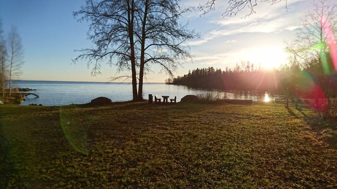 Näkymä Kiperin rannasta järvelle.